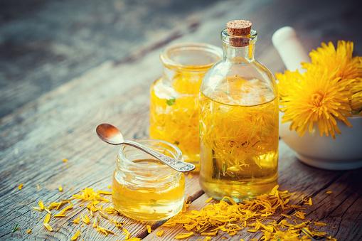 huile médicinale de pissenlit